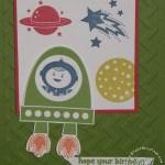 Blast Off Astronaut Card