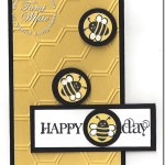 CARD: Happy Beeee-day Spring Sampler fun