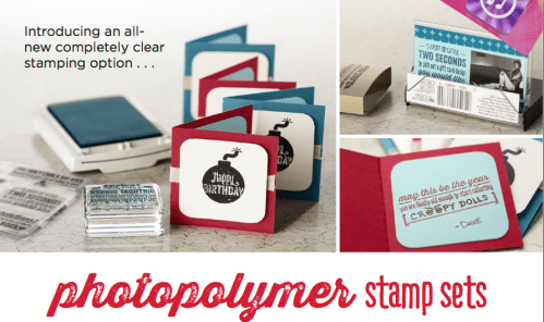 bombs Away clear photoypolymer stamp set