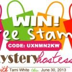 SPECIAL: Mystery Hostess Code UXNMN2KW thru June 30
