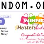 WINNERS DRAWN: Congrats to the July 15 Mystery Hostess Winners