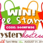WIN FREE STAMPS: New Hostess Code 944WFM96 (Winner Announcement)