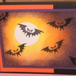 CARD: Halloween Hello Bats