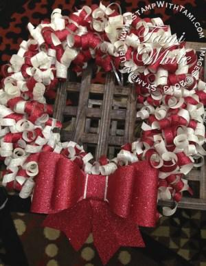 paper wreath-glimmer paper