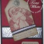CARD: Santa's List with Silver foil