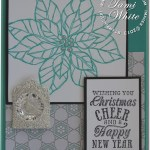 CARD: Joyful Christmas card with a WOW tag