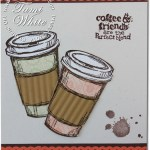 """CARD: Perfect Blend coffee """"to go"""" cups"""