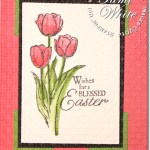 CARD: Textured Blessed Easter Tulips