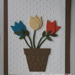 CARD: Bird Punch Flower Pot
