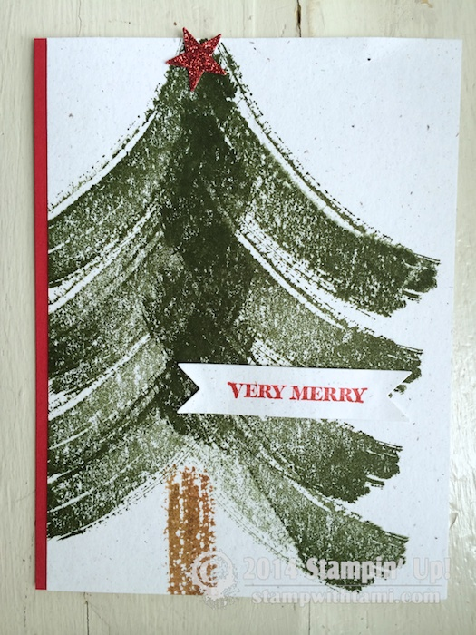 CARD Work Of Art Christmas Card Stampin Up Demonstrator