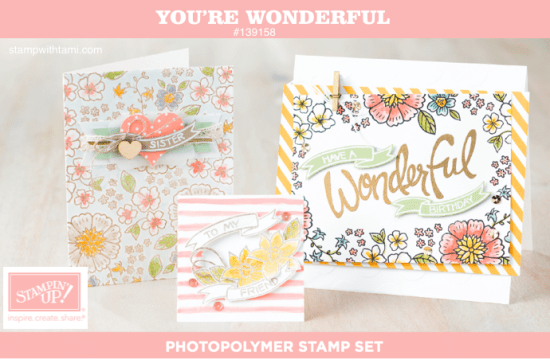 stampin up youre wonderful stamp set