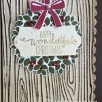 CARD: Wondrous Wreath Christmas card and video