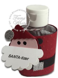 stampin up santa-tizer