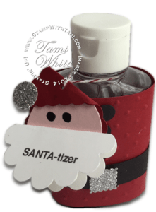 stampin up santa-tizer