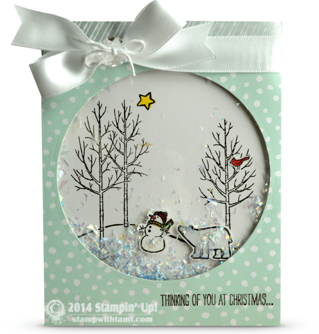 CARD White Christmas Shaker WOW Part II Stampin Up