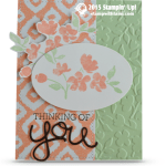 CARD: Thinking of You Painted Petals