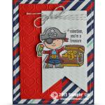 CARD: Stinkin' Cute Pirate Valentine Treasure