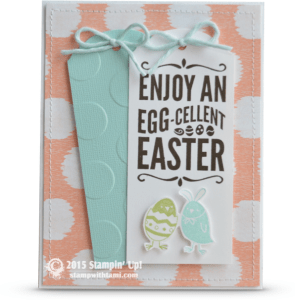 stampin up for peeps sake easter card