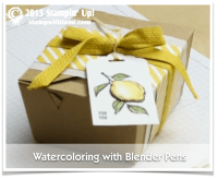 stampin up watercoloring with blender pens