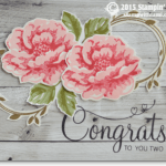CARD: Congrats You Two – Stippled Blossoms Wedding Card