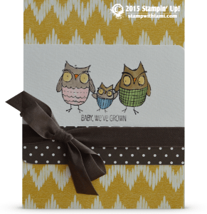 stampin up owls baby weve grown