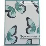 CARD: Watercolor Wings Butterflies