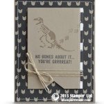 CARD: No Bones About It Dinosaur