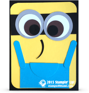 stampin up minion card punch art