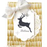 CARD: Believe Reindeer Card