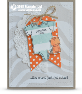 stampin up made with love baby card