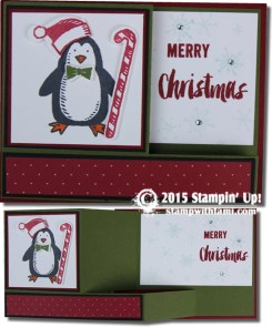 snow place pull out - red- stampin up