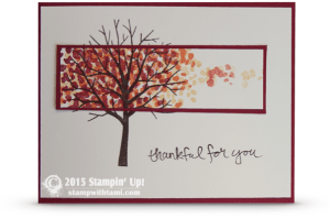 stampin up sheltering tree fall leaves card