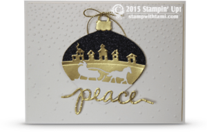stampn up delicate ornament wow christmas card