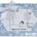 CARD: White Christmas Thinking of You Cut Out Card