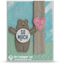 stampin up bear hugs stamp set card