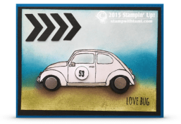 stampin up herbie the love bug volkswagon bettle