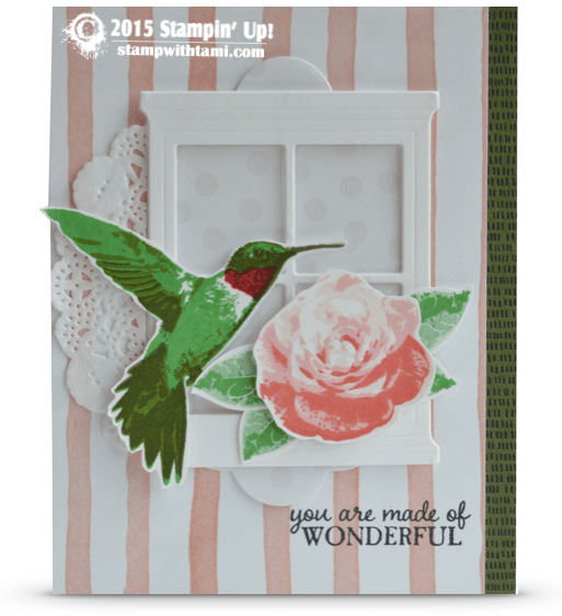 stampin up picture perfect hummingbird card