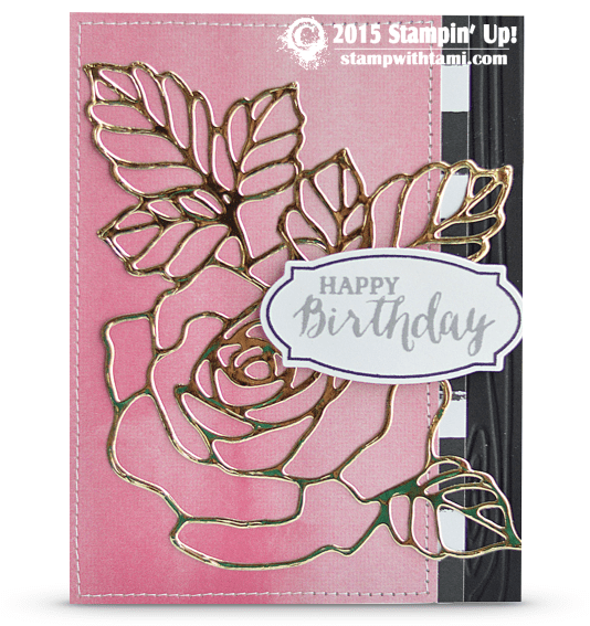 stampin up rose wonder card