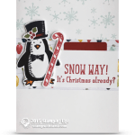 CARD: Snow Way Penguin in a Top Hat