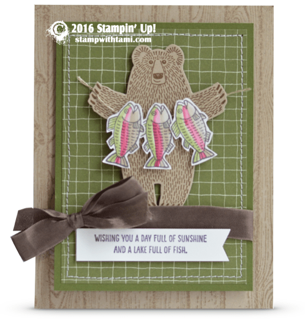stampin up bear hugs stamp set card fish masculine