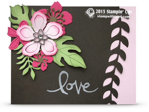 stampin up bloomin garden card