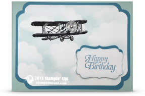 stampin up sky is the limit sale a bration plane card