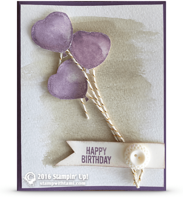 stampin up balloon builders card birthday
