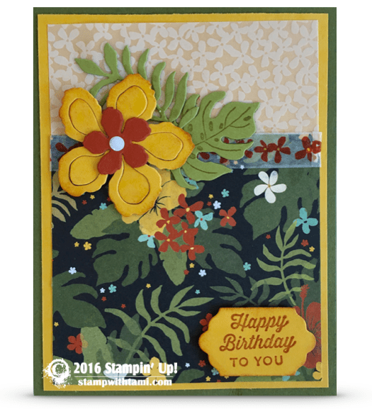 stampin up botanical bloms birthday