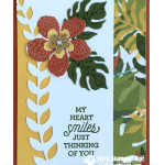 CARD: Botanical Blooms Heart Smiles Card