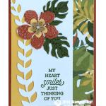 CARD: Botanical Blooms Heart Smiles Card