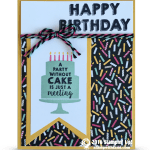 CARD: Party Wishes Birthday Cake