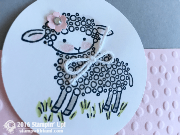 stampin up lamb easter 2
