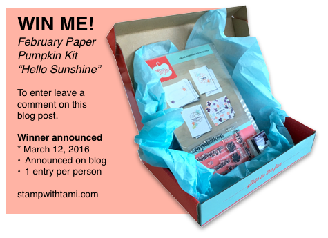 stampin up paper pumpkin giveaway kit