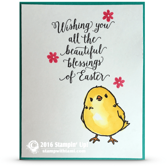 stampin up sale a bration honeyomb happiness easter chick